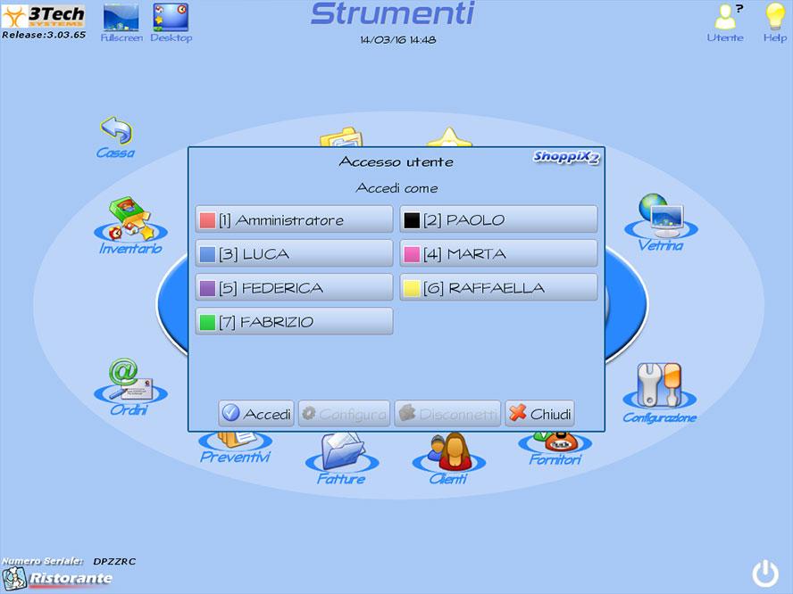 software ristorante strumenti